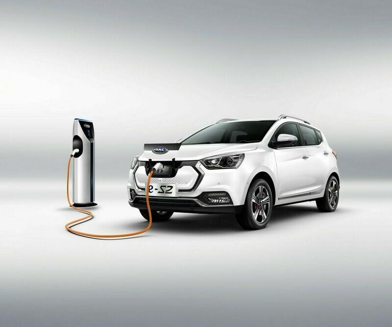 JAC e-S2 EV Elektro Luxury SUV von Volkswagen zusammen mit Energeek® E-Mobilitätspaket mit bis zu 50 % Rabatt und mit bis 100 % WIR/CHW, $, Euro oder Kryptos (Bitcoin, ETH etc.) auf Rechnung