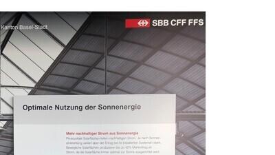 Energeek® Solar Panel für das Smart City Lab Basel der SBB mit 97 CHF Mietertrag pro Jahr