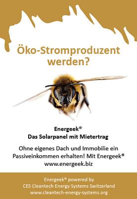 Geschenkkarte - Gutschein für Energeek® Solar Panel mit Mietertrag & alle unsere online #cleantech Produkte ab ...
