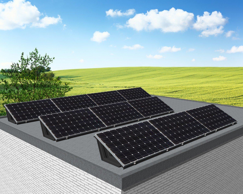 """myCleantech-Solar.org™ - Komplett Solaranlage Flachdach 810 - 6'168 WattP """"Einfache Selbstmontage - do it yourself"""" oder Aufbau durch unsere Fachleute ab..."""
