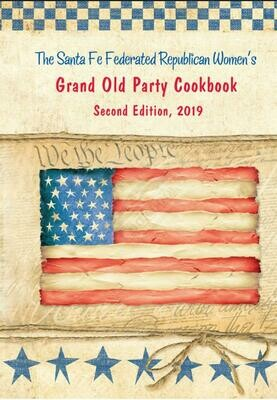 Santa Fe Federated Women's Grand Old Party Cookbook, Second Edition, 2019 with shipping.