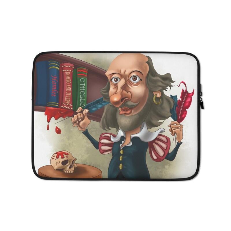William Shakespeare Laptop Sleeve