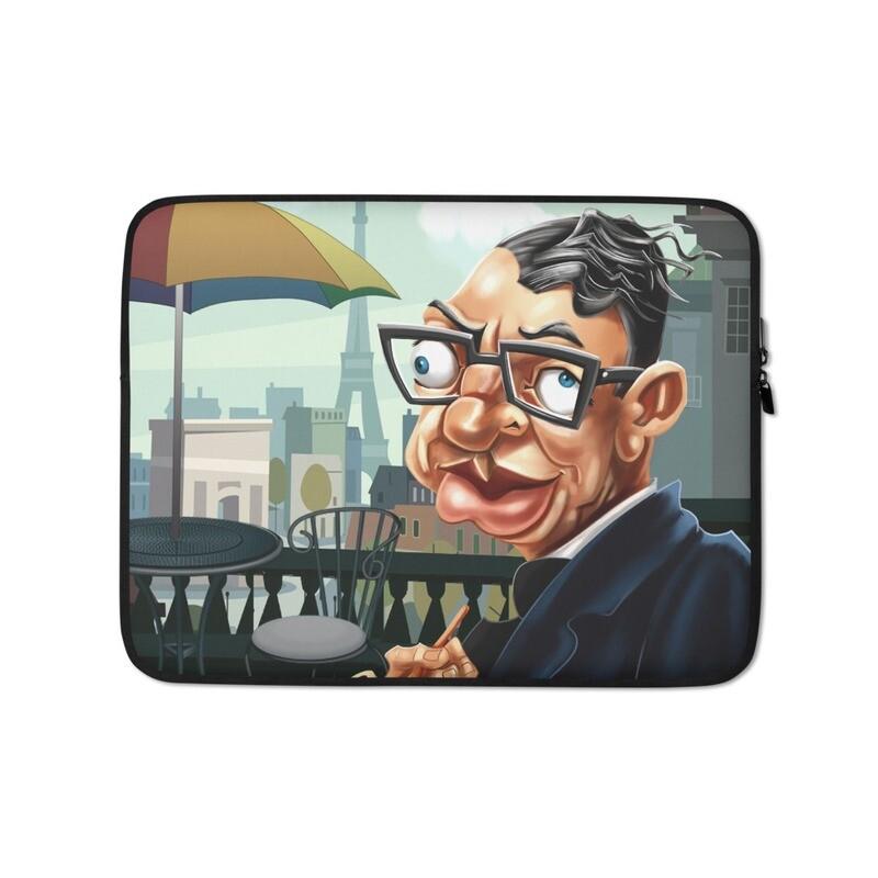 Jean-Paul Sartre Laptop Sleeve
