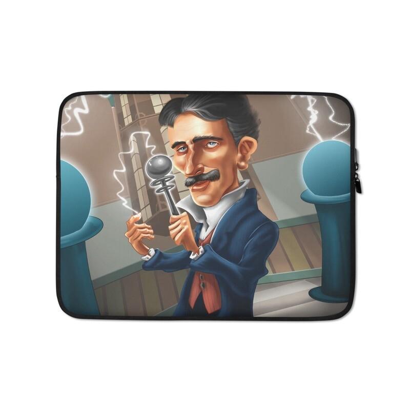 Nikola Tesla Laptop Sleeve