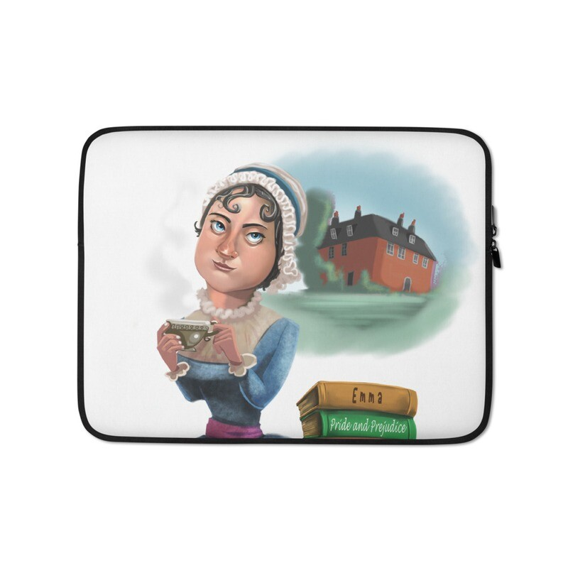 Jane Austen Laptop Sleeve