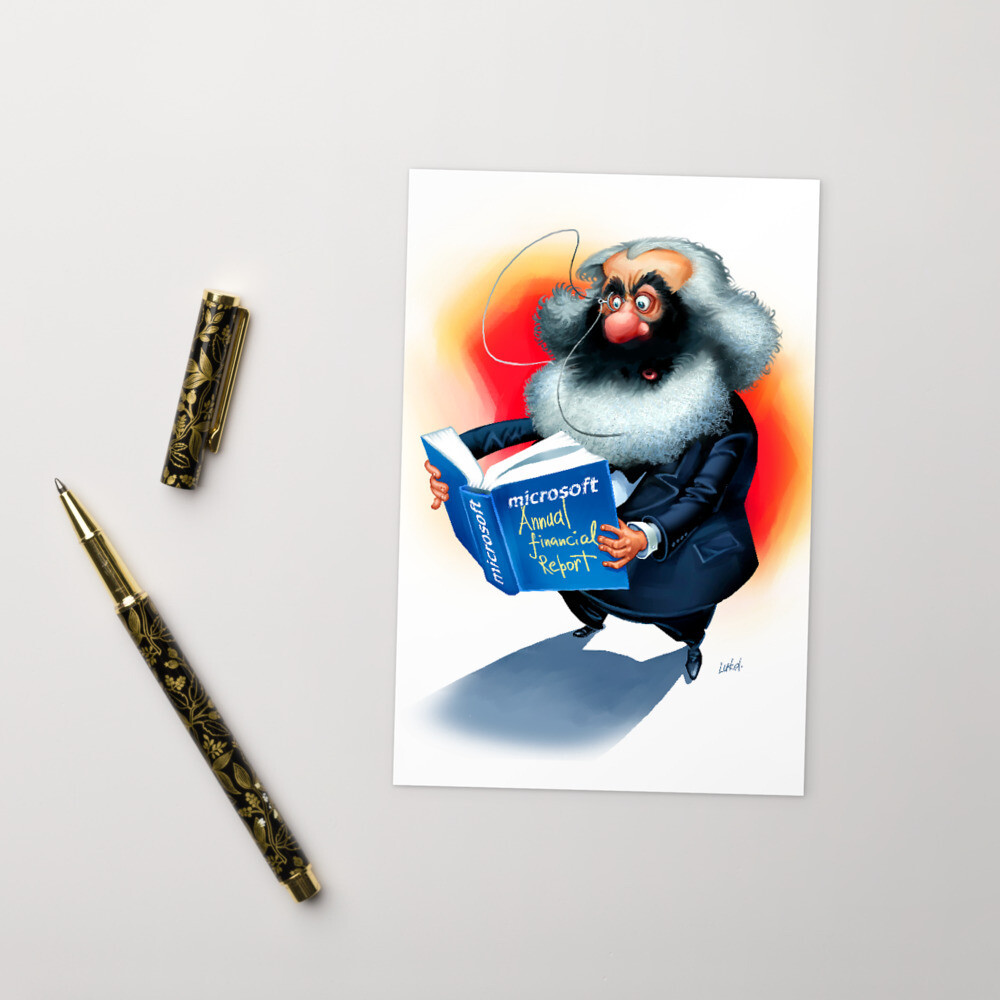 Karl Marx Standard Postcard
