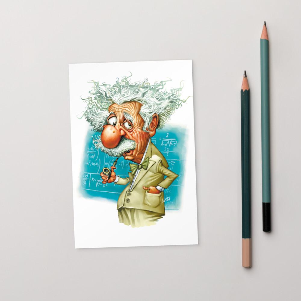 Albert Einstein Standard Postcard