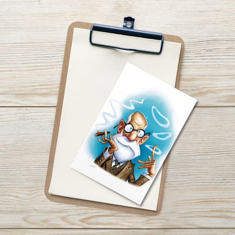 Sigmund Freud Standard Postcard