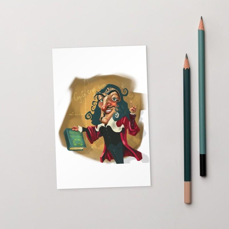 René Descartes Standard Postcard
