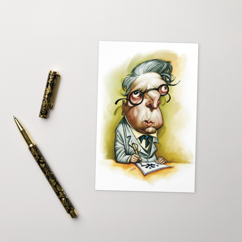 W. B. Yeats Standard Postcard