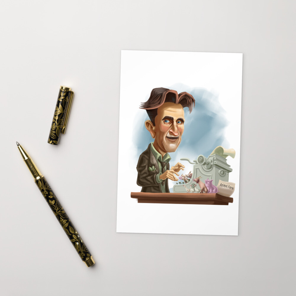 George Orwell Standard Postcard