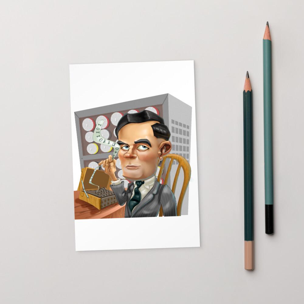 Alan Turing Standard Postcard