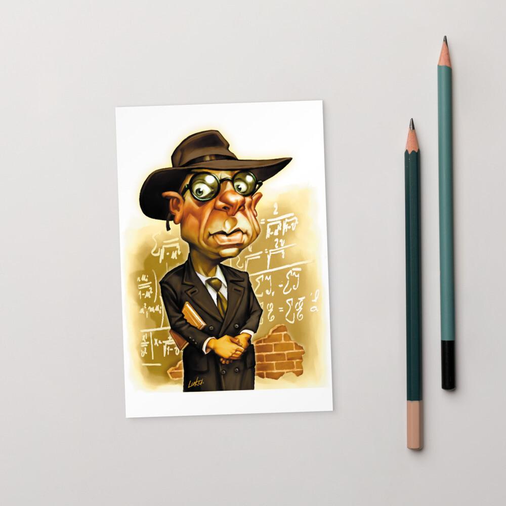 Kurt Gödel Standard Postcard