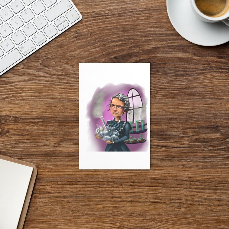 Marie Curie Standard Postcard