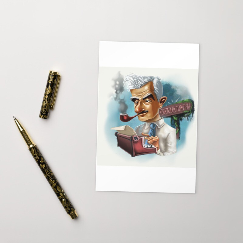 William Faulkner Standard Postcard