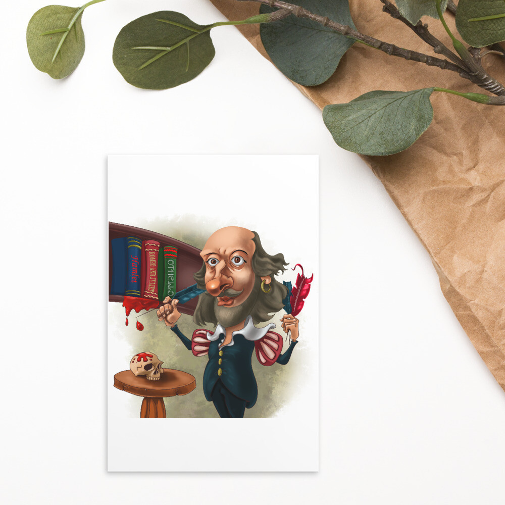 William Shakespeare Standard Postcard