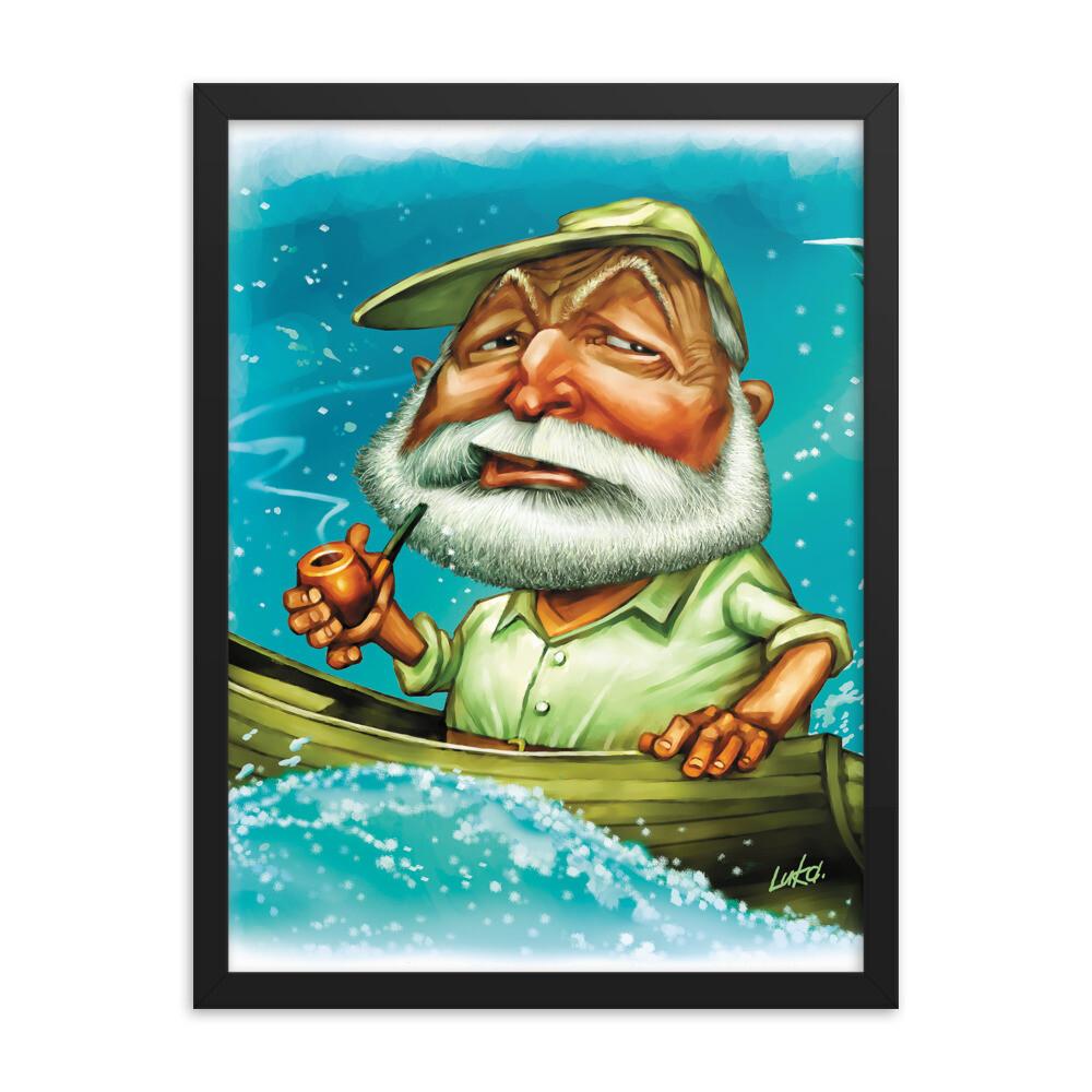 Ernest Hemingway Framed poster