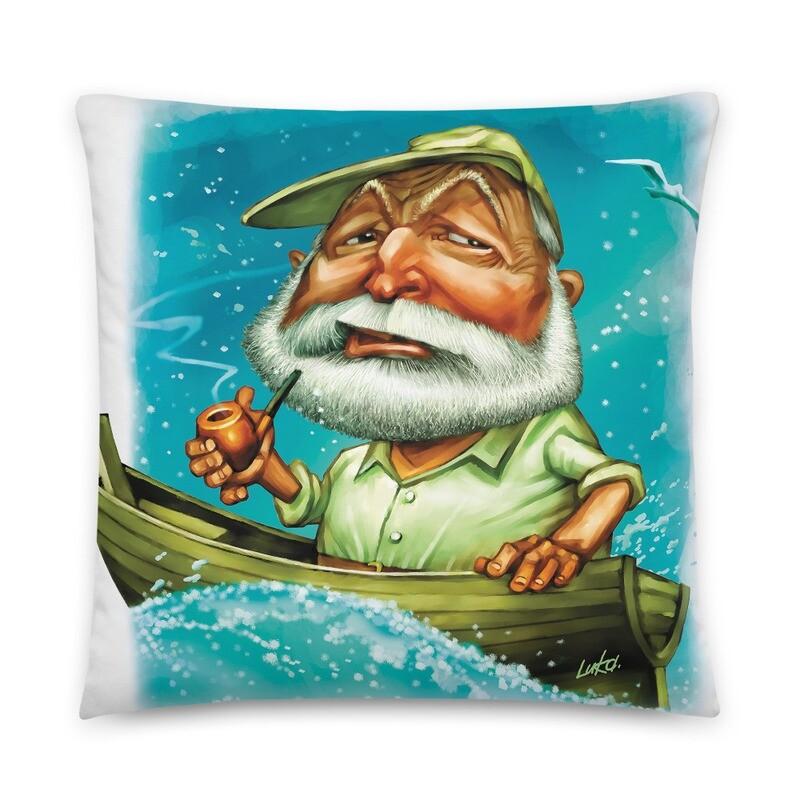 Ernest Hemingway Basic Pillow