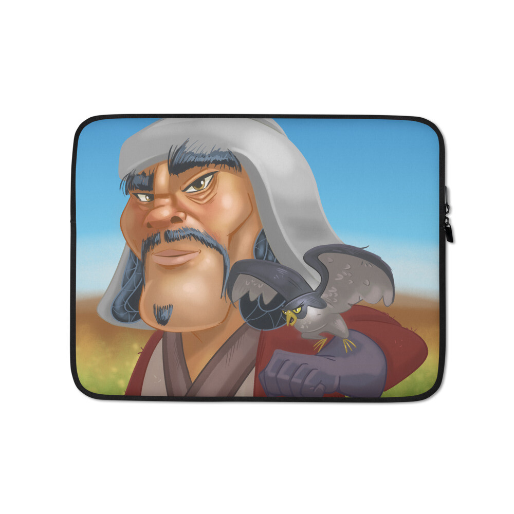 Chinggis Khan Laptop Sleeve