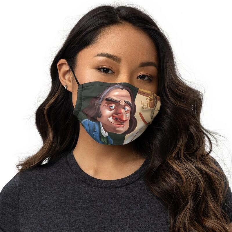 Franz Liszt Premium face mask