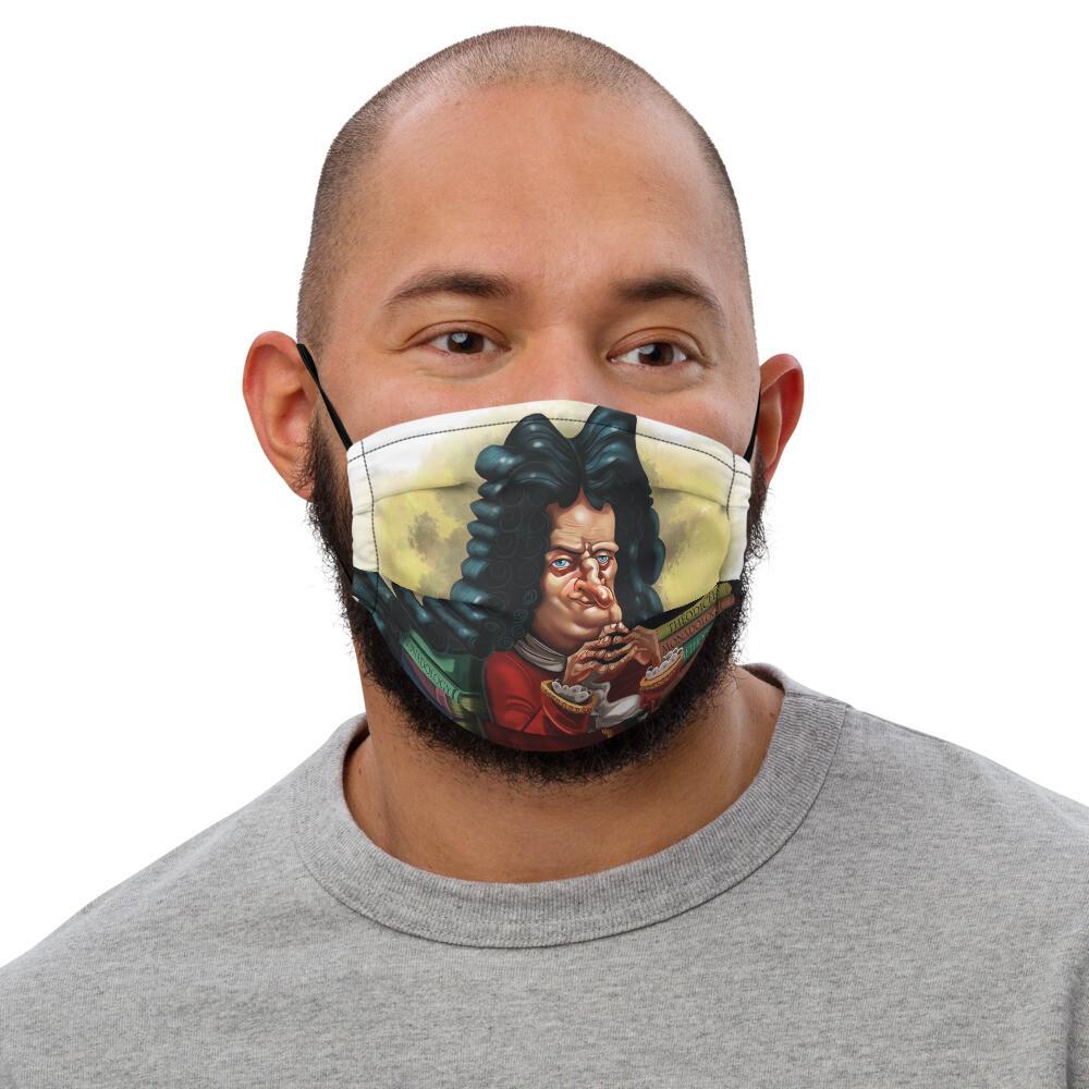 Gottfried Leibniz Premium face mask