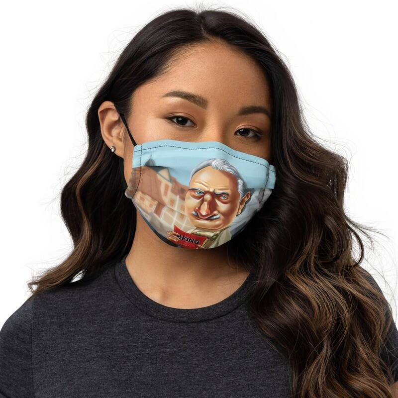 Martin Heidegger Premium face mask