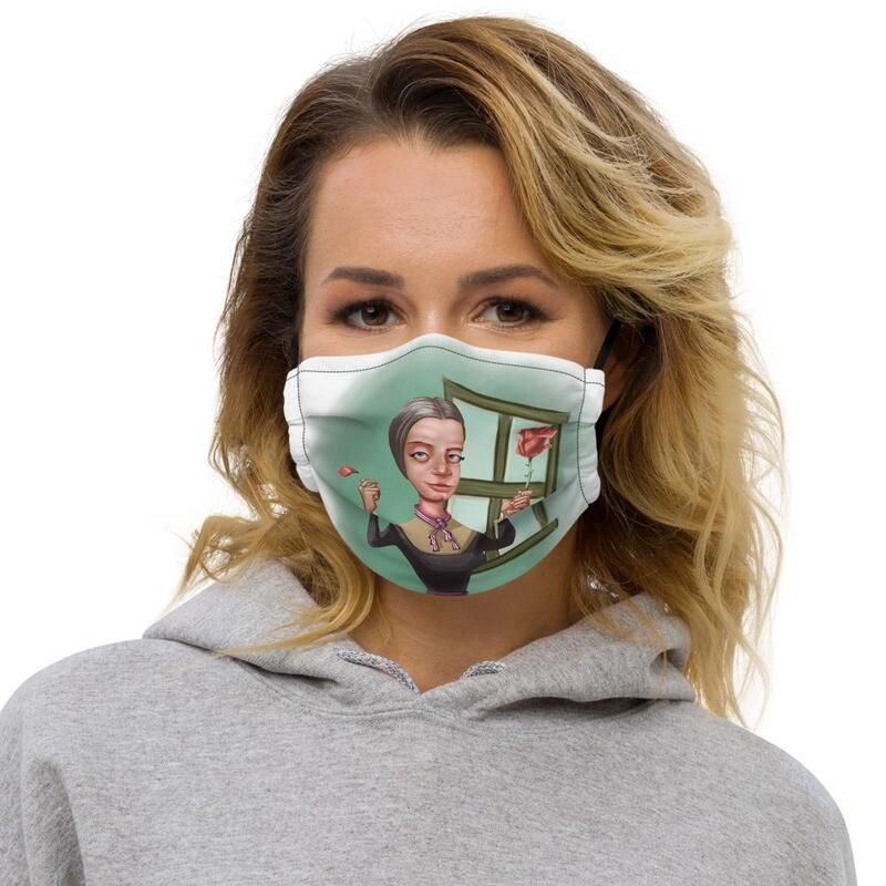 Emily Dickinson Premium face mask