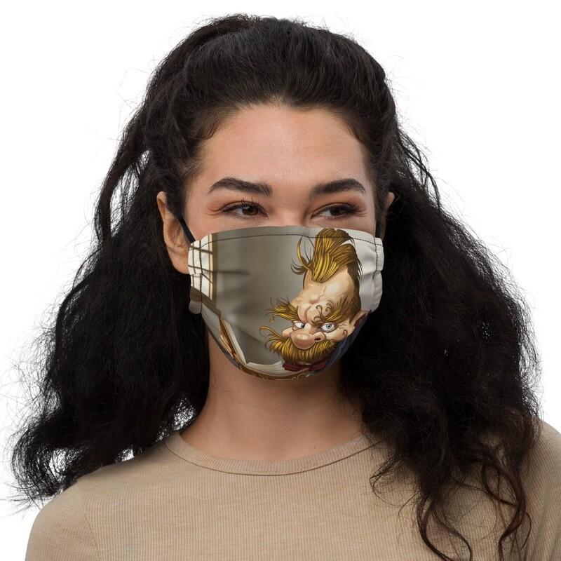 Friedrich Nietzsche Premium face mask
