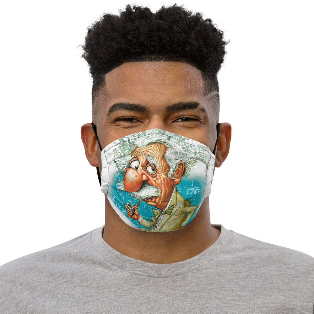 Albert Einstein Premium face mask