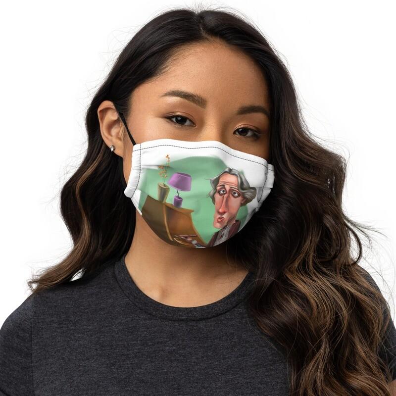 Virginia Woolf Premium face mask
