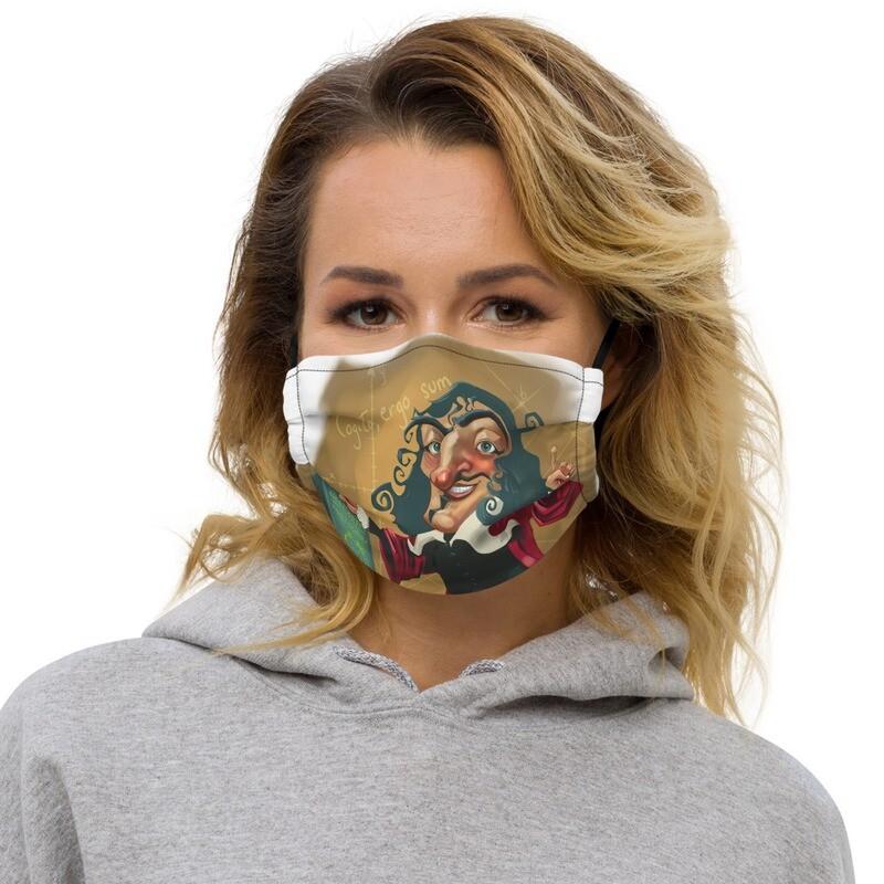 René Descartes Premium face mask