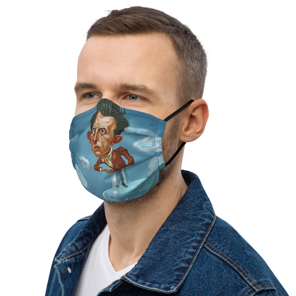 Ludwig Wittgenstein Premium face mask