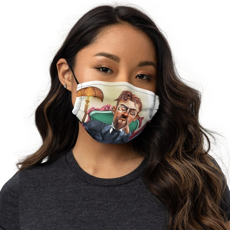 Anton Chekhov Premium face mask