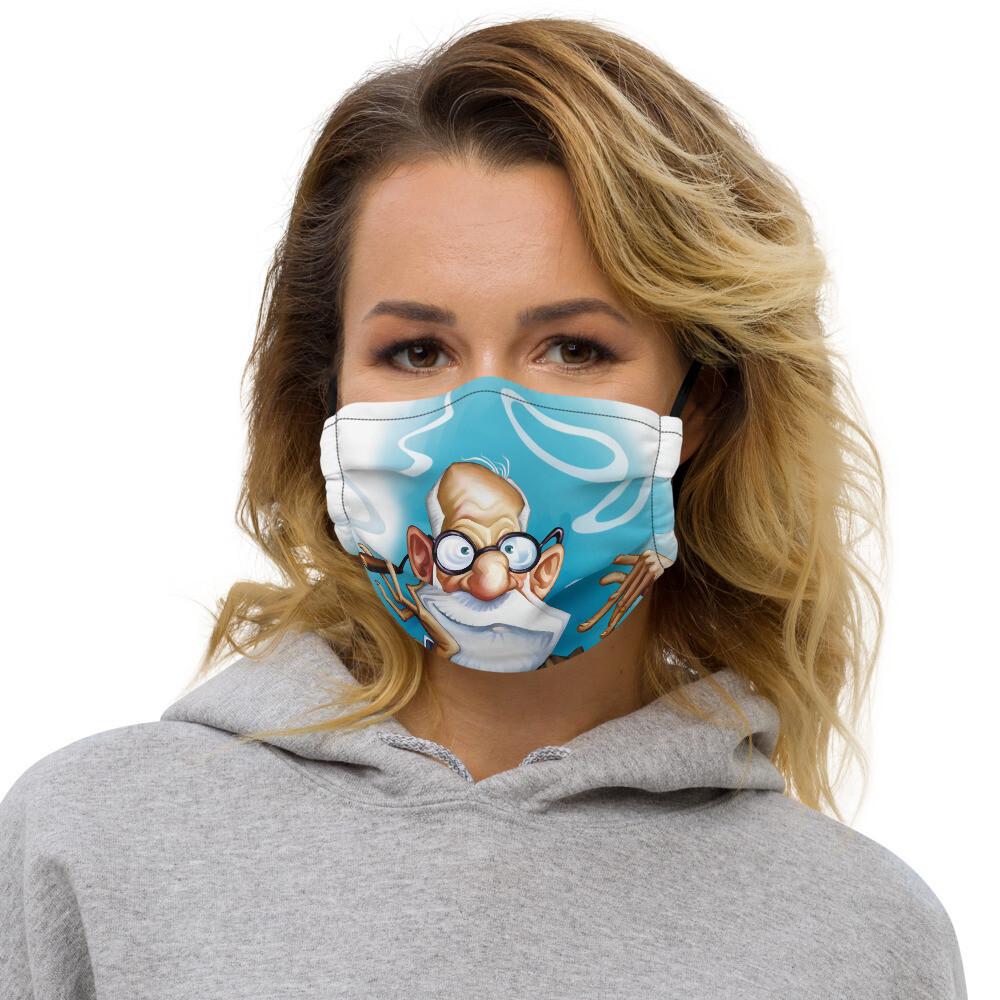 Sigmund Freud Premium face mask