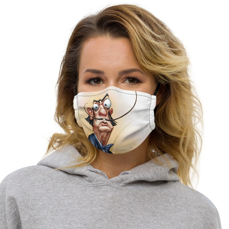 Salvador Dalí Premium face mask