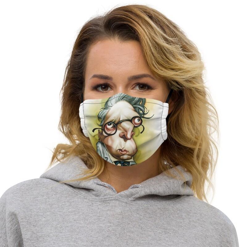 W. B. Yeats Premium face mask