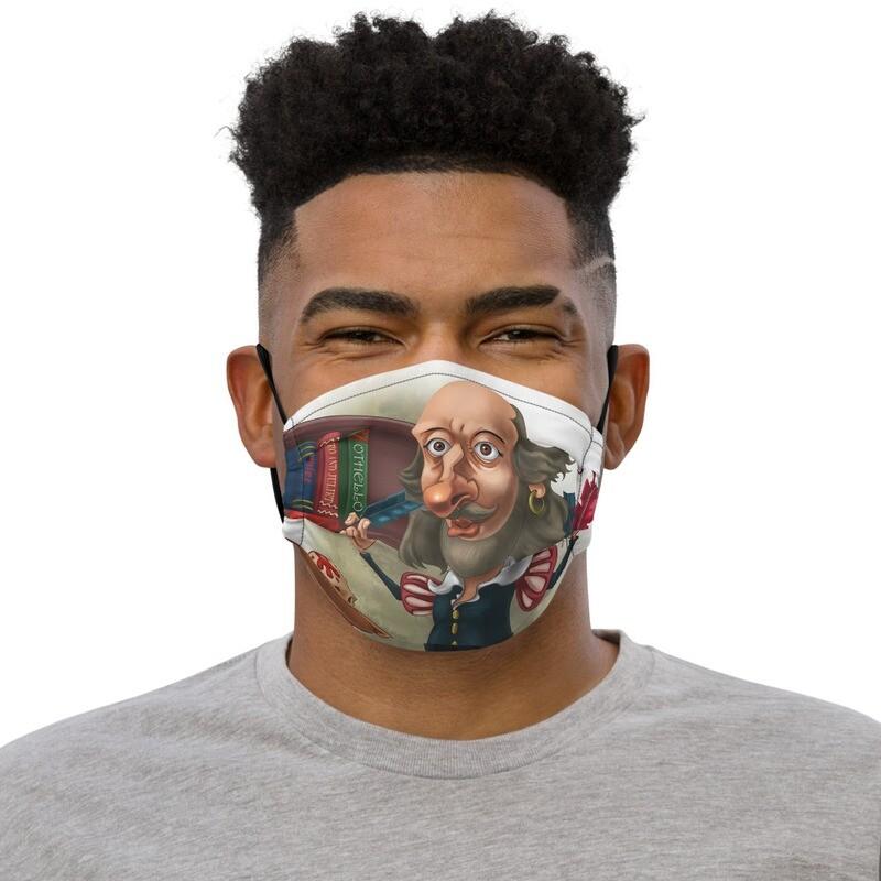 William Shakespeare Premium face mask