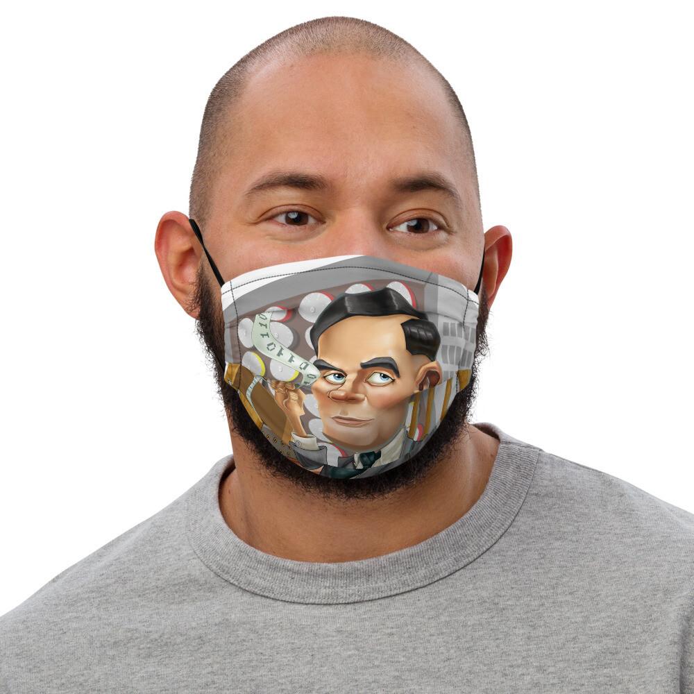 Alan Turing Premium face mask
