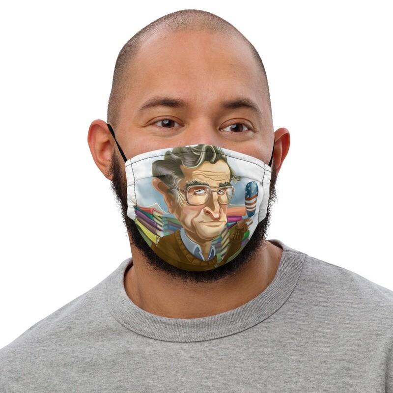 Noam Chomsky Premium face mask