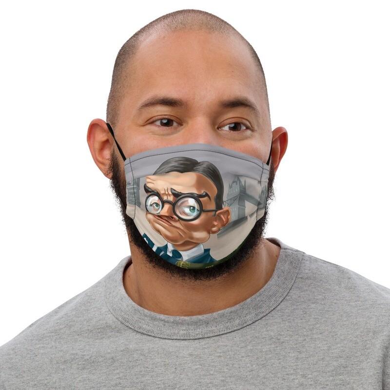 T. S. Eliot Premium face mask