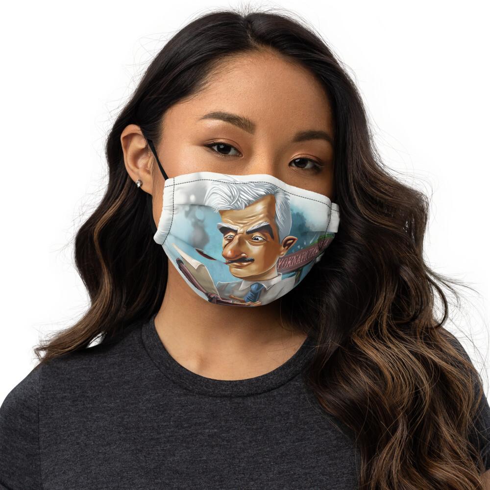 William Faulkner Premium face mask