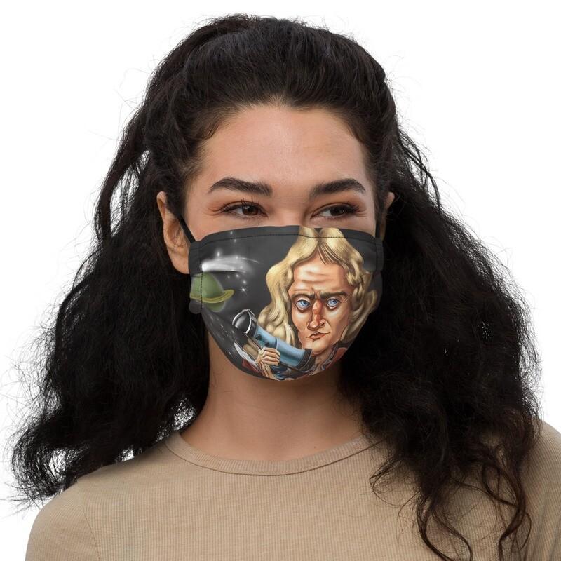 Isaac Newton Premium face mask