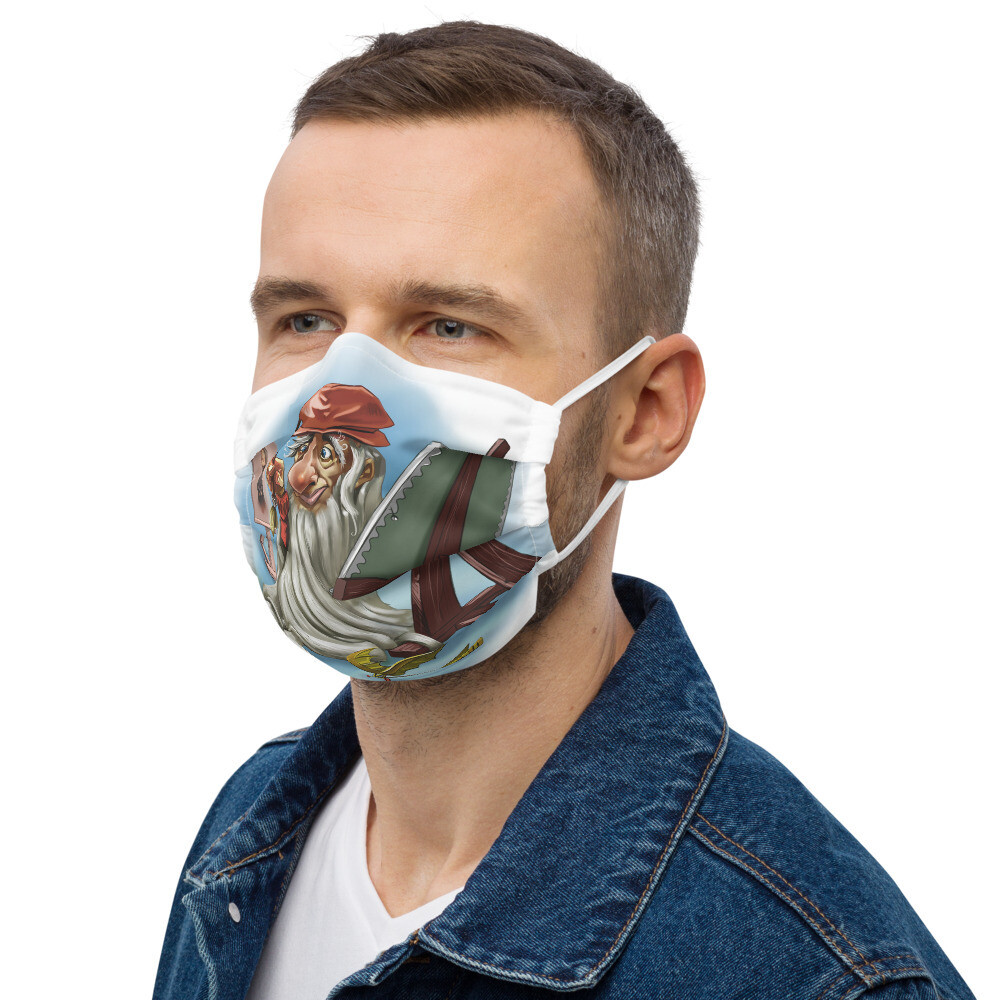 Leonardo da Vinci Premium face mask