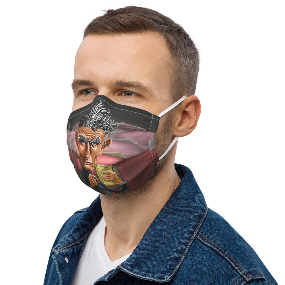 Samuel Beckett Premium face mask