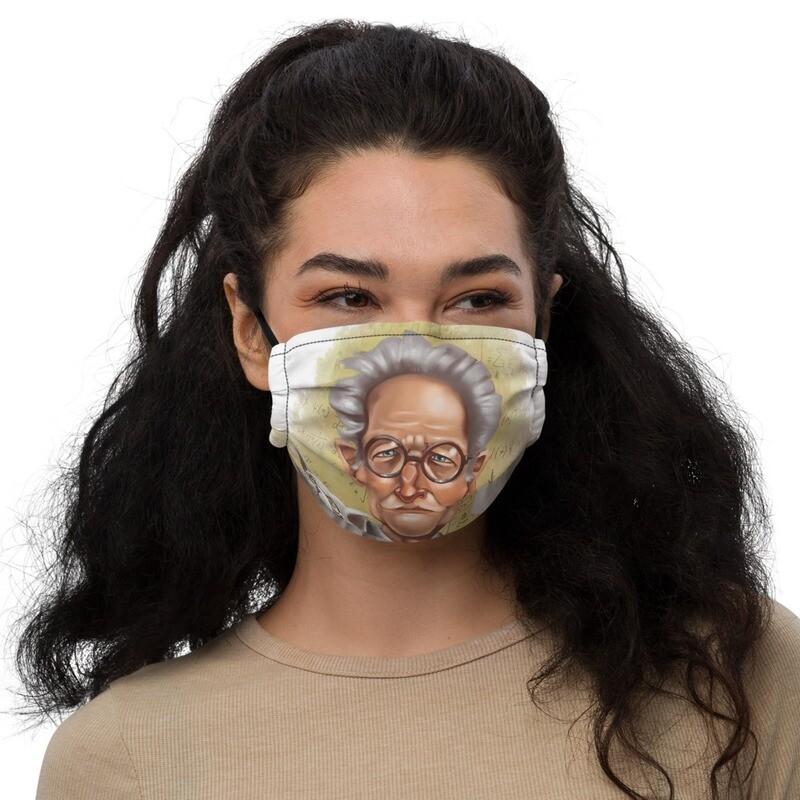 Erwin Schrödinger Premium face mask