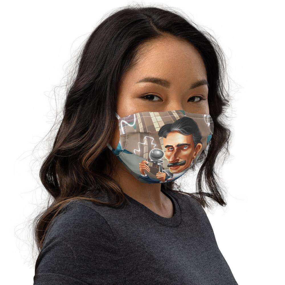 Nikola Tesla Premium face mask