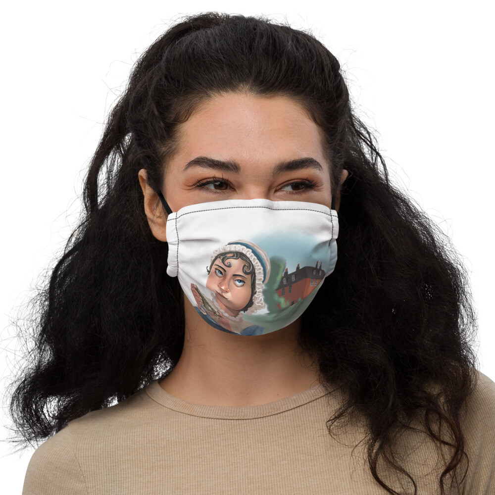 Jane Austen Premium face mask