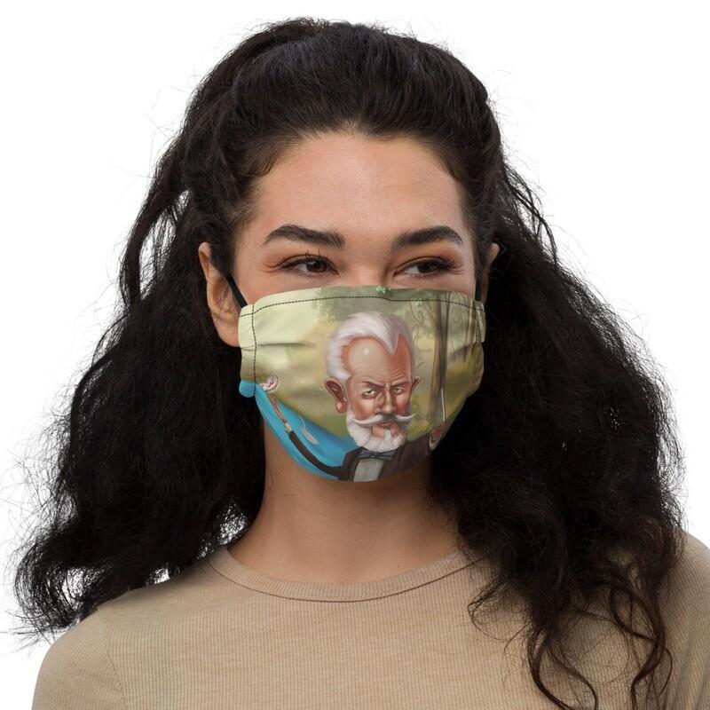 Pyotr Ilyich Tchaikovsky Premium face mask