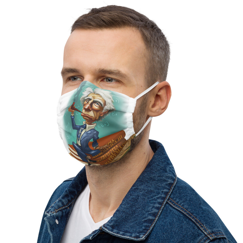 Bertrand Russell Premium face mask