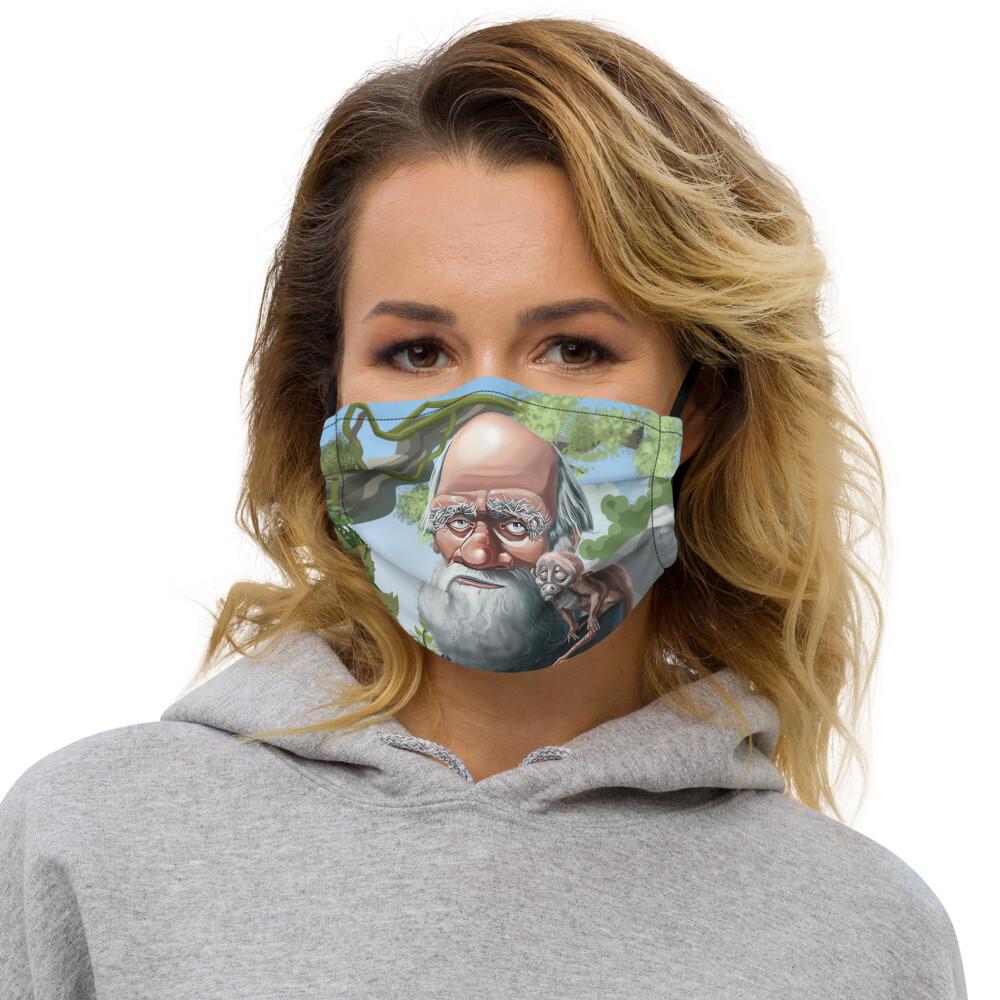 Charles Darwin Premium face mask